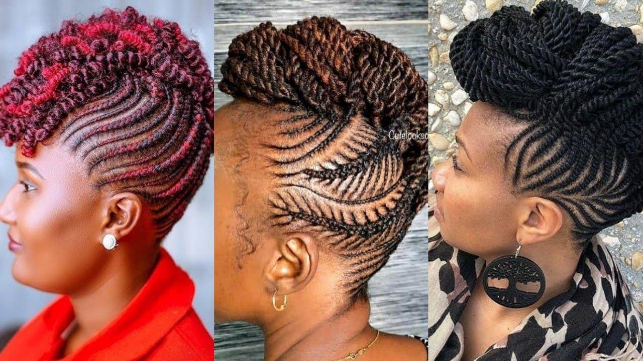 20🔥🔥 MOST BEAUTIFUL TWIST BRAIDED MOHAWK CORNROW HAIRSTYLES FOR BLACK  WOMEN    STYLISH TREND💃💃