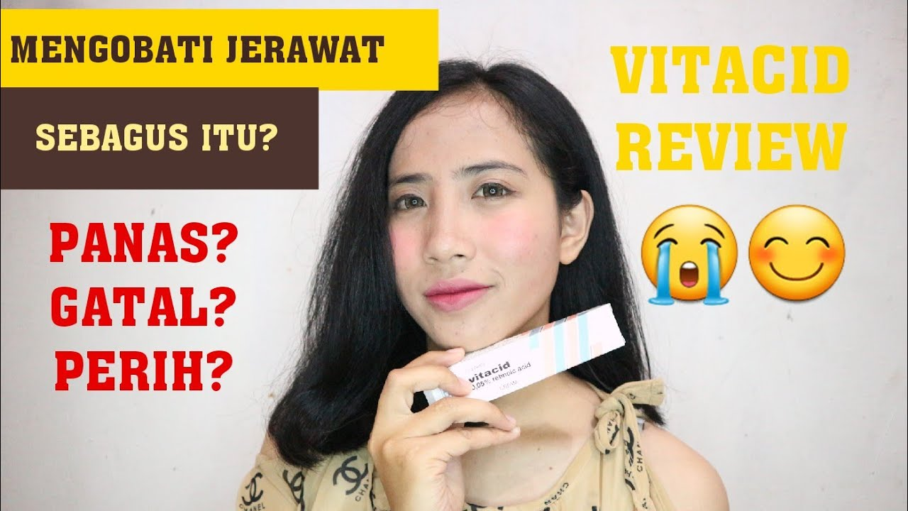REVIEW VITACID UNTUK MENGOBATI JERAWAT ! - YouTube