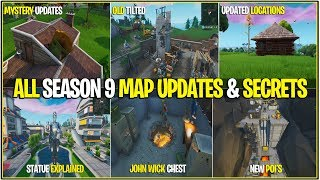 Fortnite: ALL SEASON 9 MAP CHANGES - SECRETS! (Chest, John Wick, oeufs de Pâques et plus!)