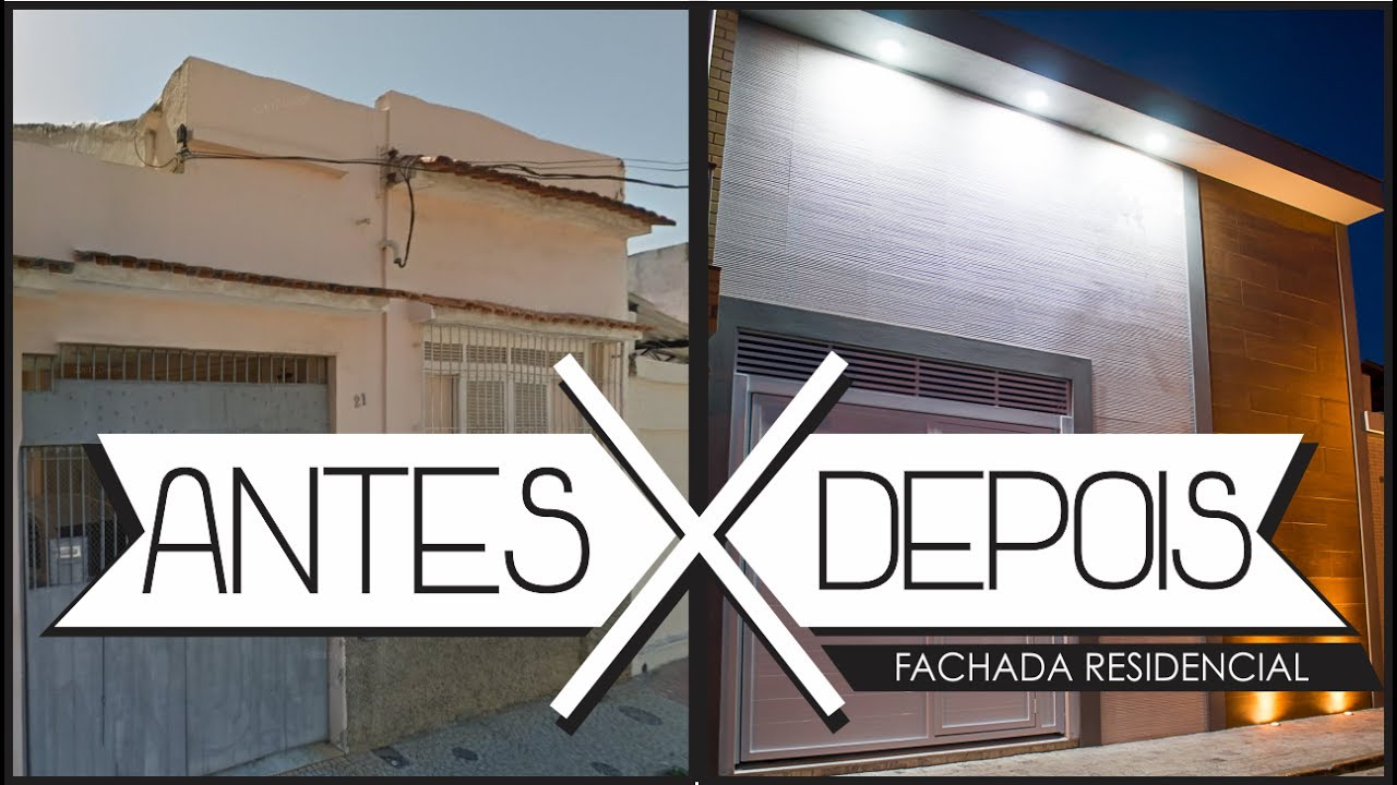 reforma de fachada residencial antes x depois mariana cabral youtube. Black Bedroom Furniture Sets. Home Design Ideas