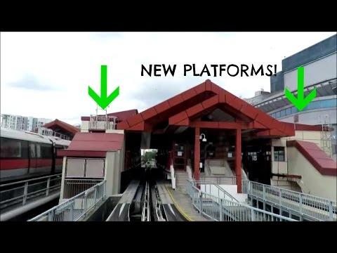 New Platforms At Choa Chu Kang LRT Station