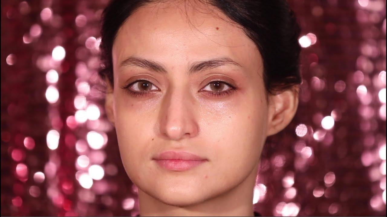 لوك العيد ✨ مع لطيفه السيار  شرح مفصل بصوتي وبدون رموش  Half smoky eyes + Dewy mekeup look