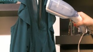 How to Use a Steamer on Clothes : How to Wear & Fix Fashions