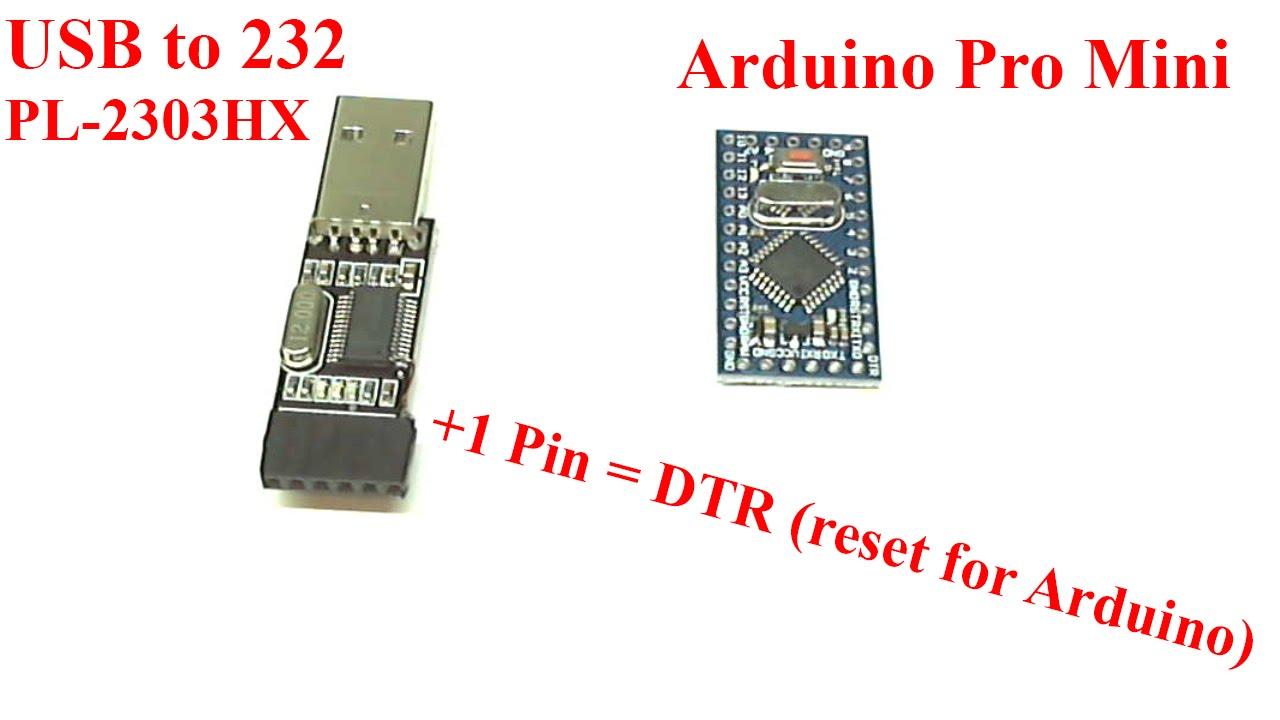 Делаем Сброс для прошивки arduino pro mini usb to mod