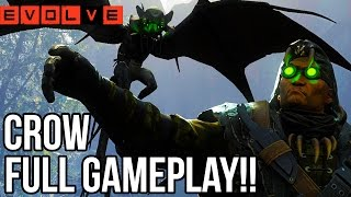 CROW GAMEPLAY - EVOLVE TIER 4 HUNTERS!! Evolve Gameplay Walkthrough - Multiplayer (PC 1080p)
