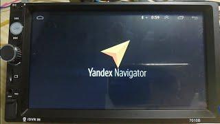 Autoradio 2DIN 7010B - Android 9.1 - Yandex Navigator GPS screenshot 2