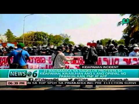 [News@6] Mga magsasakang nagprotesta sa Kidapawan, kinasuhan ang ilan opisyal ng pamahalaan