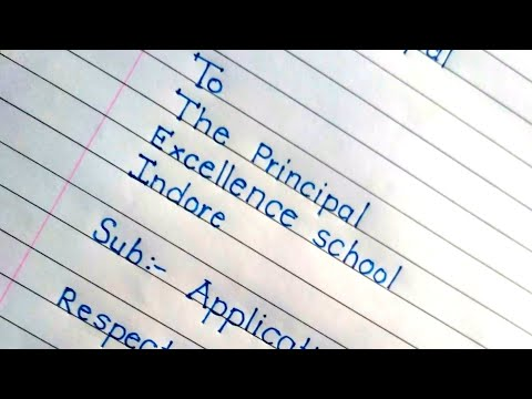 Application for TC. //application to principal //beautiful english handwriting