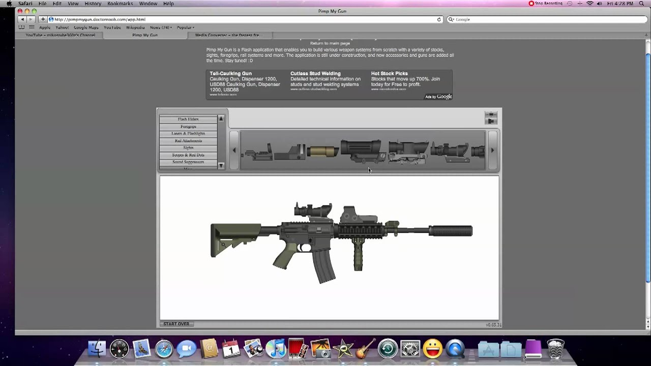 Website for designing your own gun youtube for The make room website
