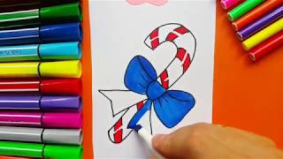 LEARNING to DRAW CANDY CANE