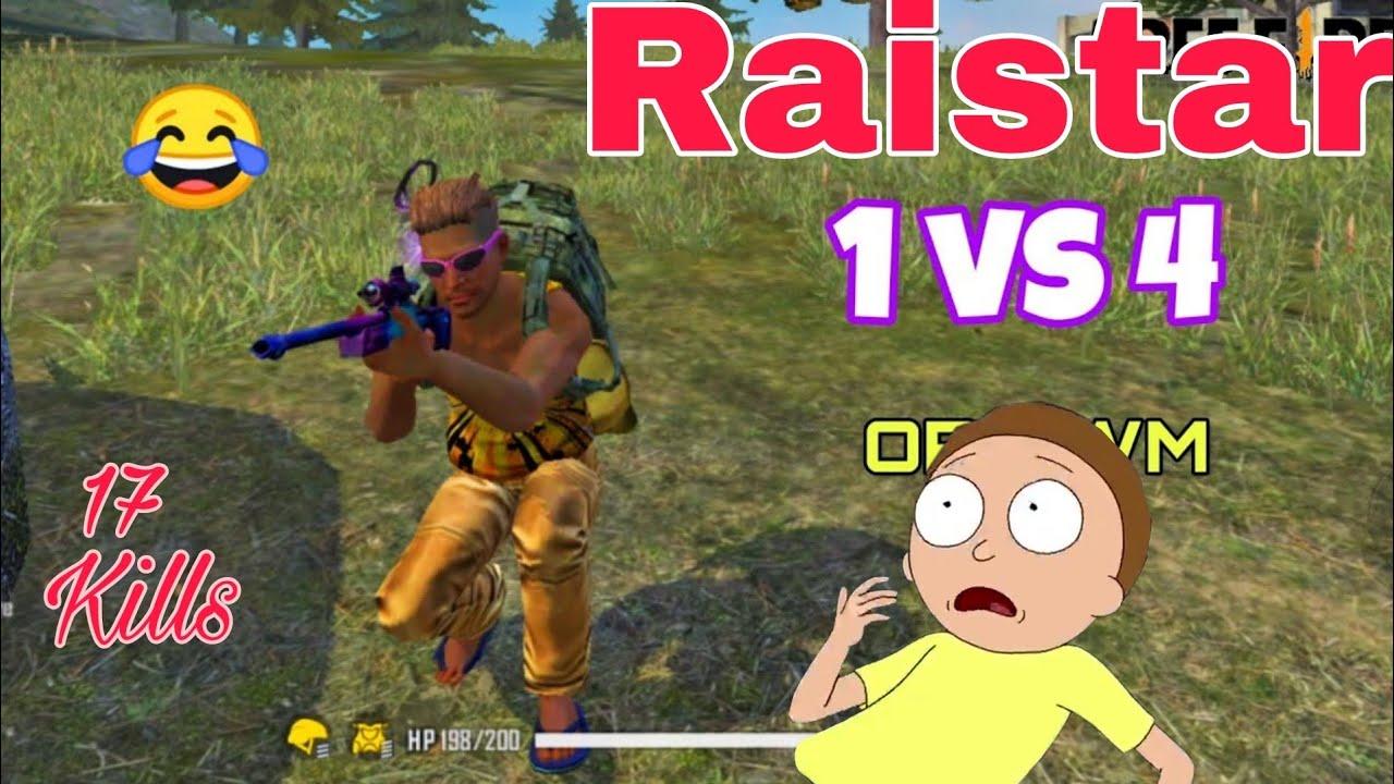 Raistar Solo Vs Squad- 17Kill 🔥OP Reaction of 2B Gamer