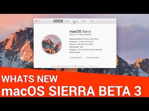 Whats New in macOS Sierra Beta 3