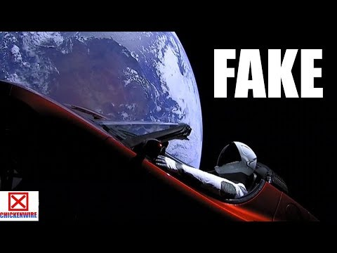 The SpaceX Tesla launch is computer generated FAKE NEWS?