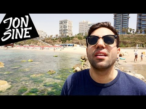 Army Helicopter at the Beach & Cats everywhere!!! A normal first week in Israel - Jon Sine Vlog #25