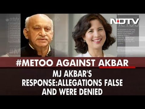 """It Was Consensual"": MJ Akbar After US-Based Journalist Alleges Rape"