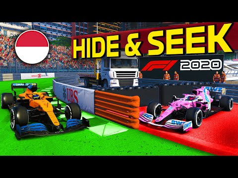 Formula 1 HIDE & SEEK at MONACO for the first time! New Game Mode on the F1 2020 Game?! |