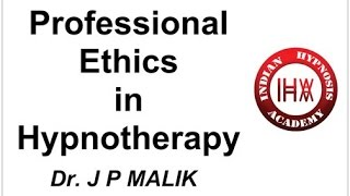What are Professional Ethics in Hypnotic Healing (Hindi)