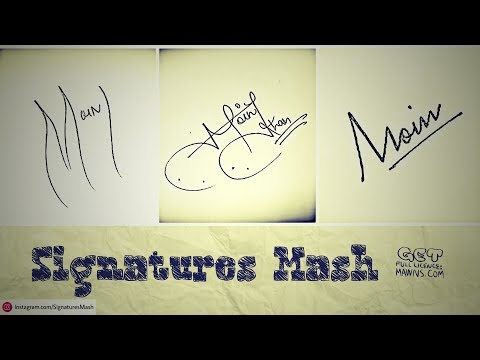 "How To Draw Signature Like A Billionaire (For Alphabet ""M"")"