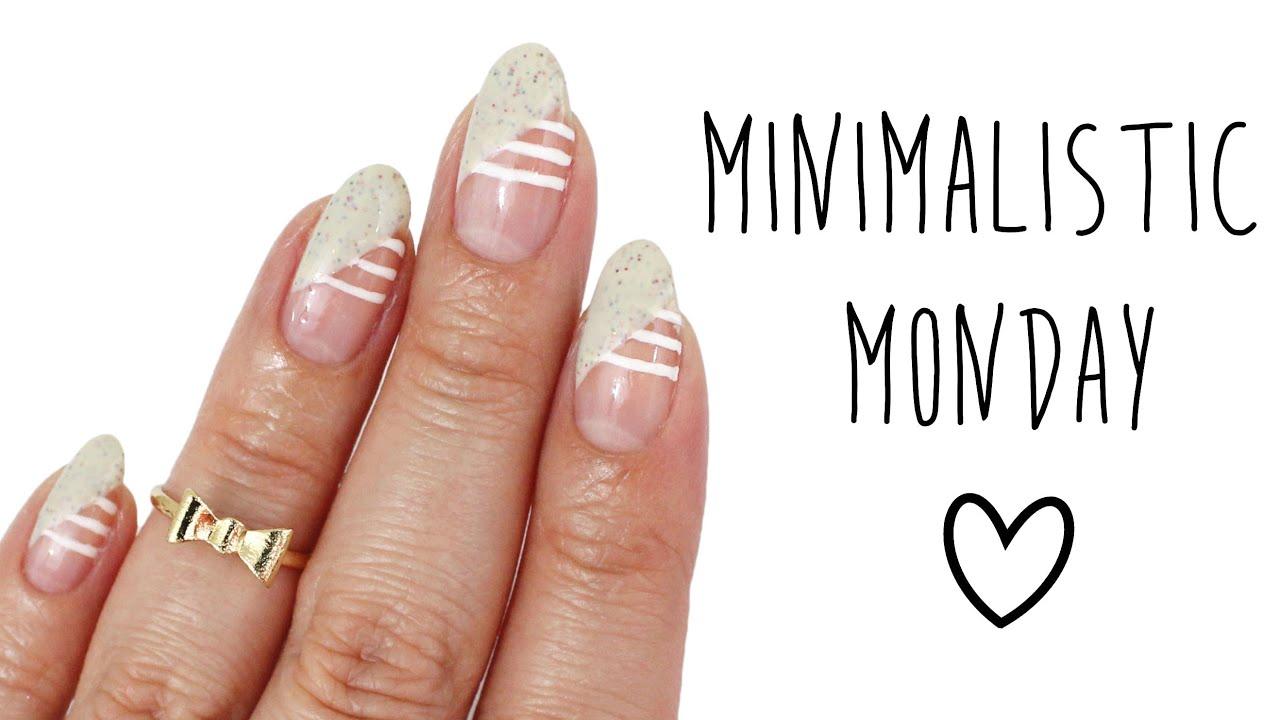 Minimalistic Monday No.8 | Stripes and Diagonal French Tips Nail Art ...