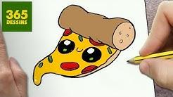 Comment Desiner Une Pizza Kawaii Dessin Kawaii Et Facile
