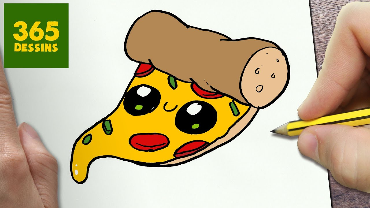 Comment dessiner pizza kawaii tape par tape dessins kawaii facile youtube - Dessins a dessiner facile ...