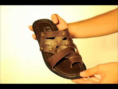 Men's Sandals for Summer and Women's Shoes from Genuine Leather .