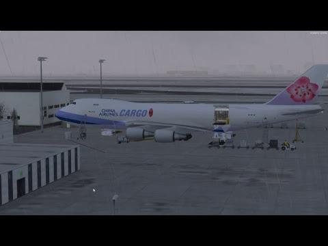 P3Dv4 中華航空 China Airlines Cargo 747 World Flight JFK(紐約)-FRA(法蘭克福) Arrival