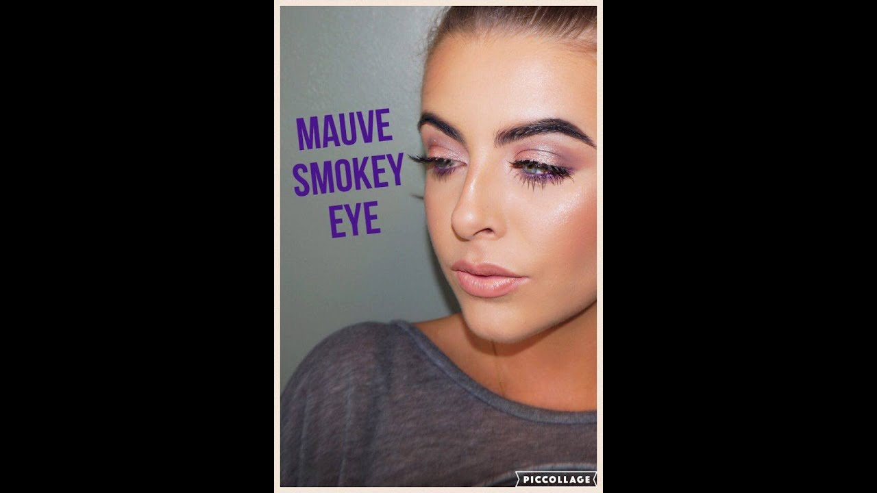 Mauve Smokey Eye With Pop Of Purple