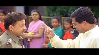 Bhanupriya Impressed By Vishnuvardhan's Bravery at Temple   Kadamba Kannada Movie Best Scene