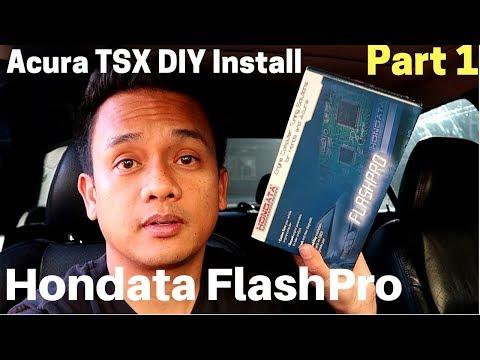 Acura TSX | DIY install Hondata FLASHPRO | Part 1