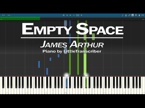 James Arthur - Empty Space (Piano Cover) Synthesia Tutorial by LittleTranscriber