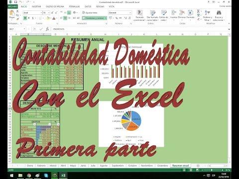 VideoTutorial: Crear Una Contabilidad Doméstica Con Excel. 1/2