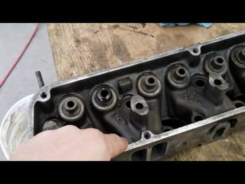 Cleaning up the heads 318cid motor. 1967 Dodge A-100 Update #4 @BonezGarage