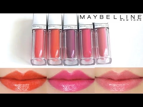 What Is Lacquer >> Maybelline Color Elixir Lip Color Swatches on Lips 5 colors - YouTube