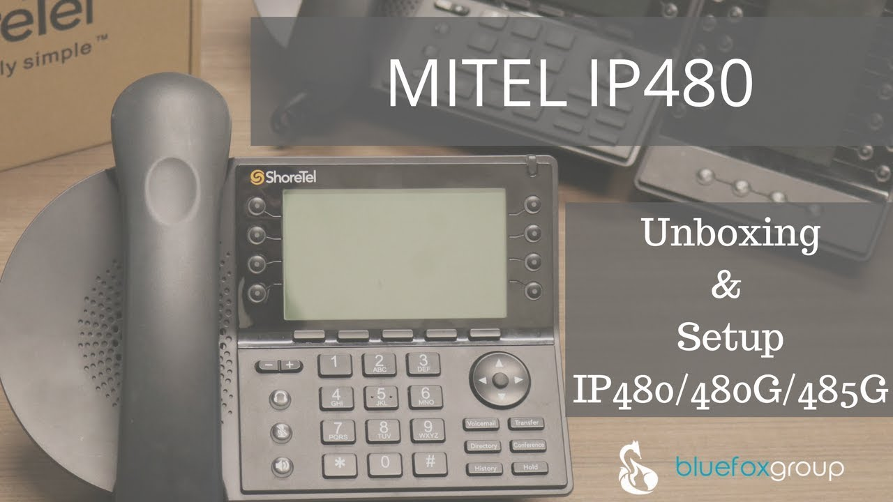 ShoreTel Mitel: IP480/IP485 - Unboxing and Setup of the latest voip phones  for Mitel MiVoice Connect
