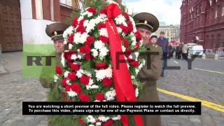 Russia: Loyal comrades celebrate Lenin