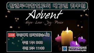 할렐루야한인교회  11월 29일  대강절 주일예배 인터…