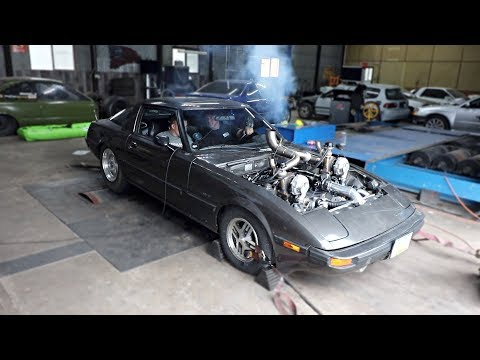 eBay Twin Turbo RX-7 Back on the Dyno!
