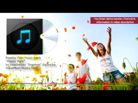 "Background music track for video ""Happy Walk"" - Happy, positive and cheerful music"