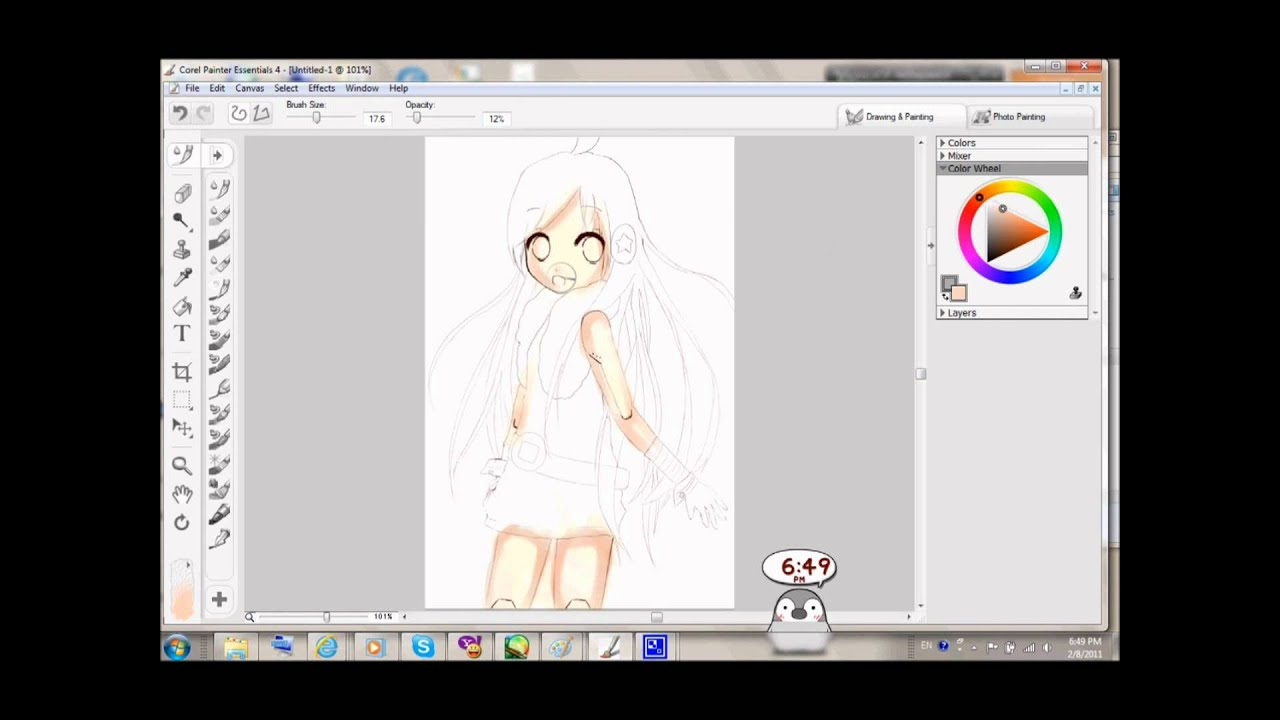Corel Painter Essentials 4 Tutorial Part 1 Youtube