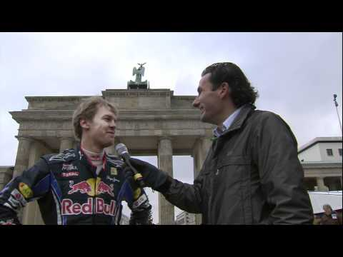 F1 show run in Berlin by world champion Sebastian Vettel