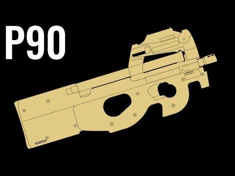 FN P90 - Comparison in 20 Random Video Games