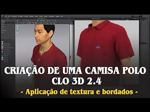 06 - CLO ENTERPRISE 2.4 - Criação de uma Camisa Pólo - Aplicação de textura e bordados