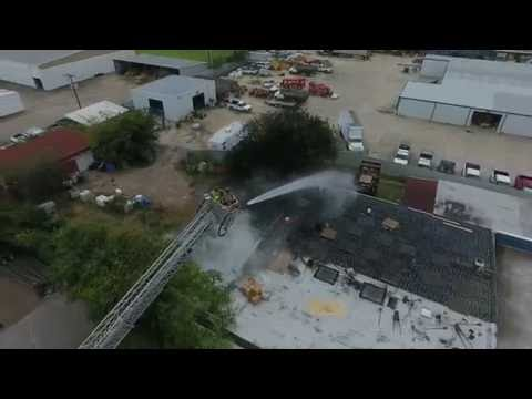 Southern Fastening Systems, Victoria TX - Fire - Drone view
