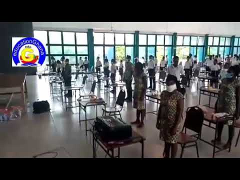 Accra College of Education 2020 Newly Trained Teachers sing School Anthem after last paper