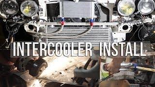 E30 Turbo Build : Ep08 Installing New Intercooler!!