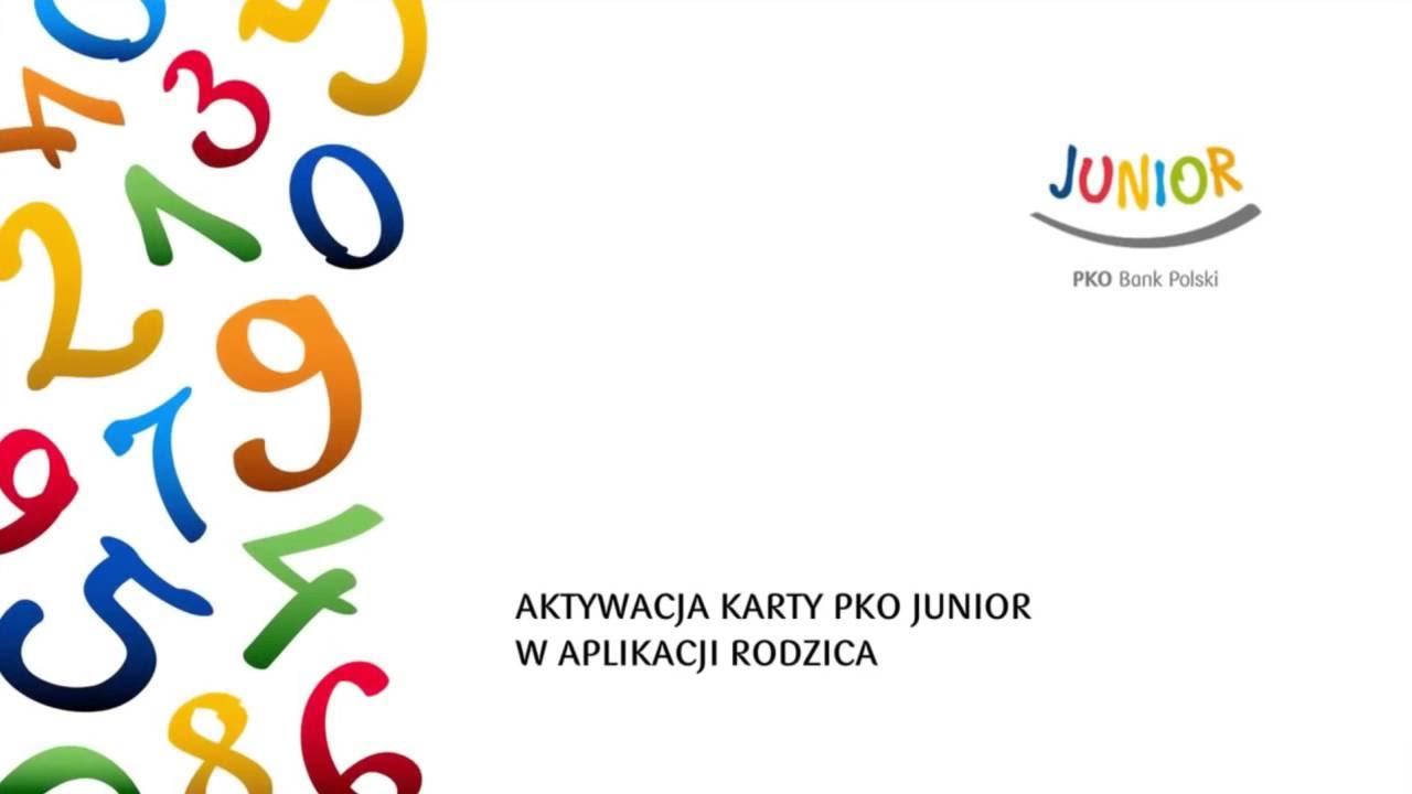 Aktywacja Karty Pko Junior W Aplikacji Rodzica Pko Junior Youtube