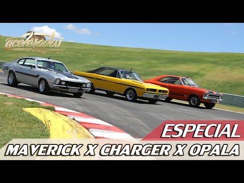 MAVERICK GT X CHARGER R/T X OPALA SS - DESAFIO ESPORTIVOS ANOS 70 | ACELERADOS