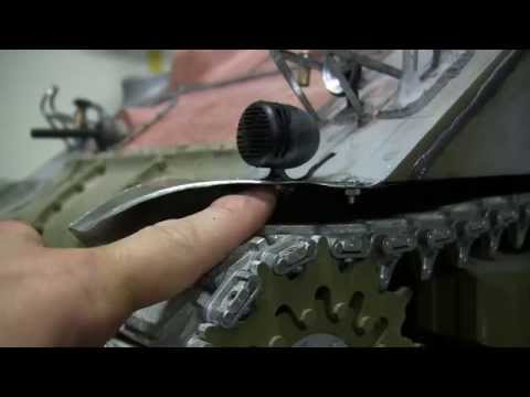 1/6th scale RC Armortek M4A4 sherman tank project video #11 (deck , and turret fabrication)
