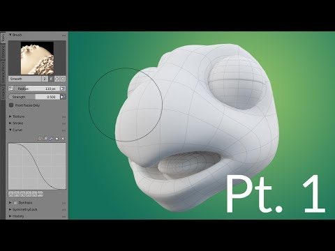 CGC Classic: Creating a Cartoon Turtle Pt.1 - Modeling the Head (Blender 2.6)